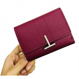 image of New 'T' Unique Design Lady Women Short Purse with Card Holder Ready Stock
