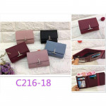 New 'T' Unique Design Lady Women Short Purse with Card Holder Ready Stock