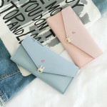 Rabbit Merry Christmas Letter Fold Over Long Purse Ready Stock