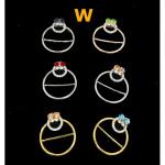 Batu CZ Ring Tudung Bawal Scaf Ring Ready Stock 4.9