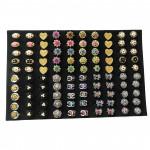 A91 - Wholesale 100pcs Mix Design Rhinestone Baby Brooch with Box