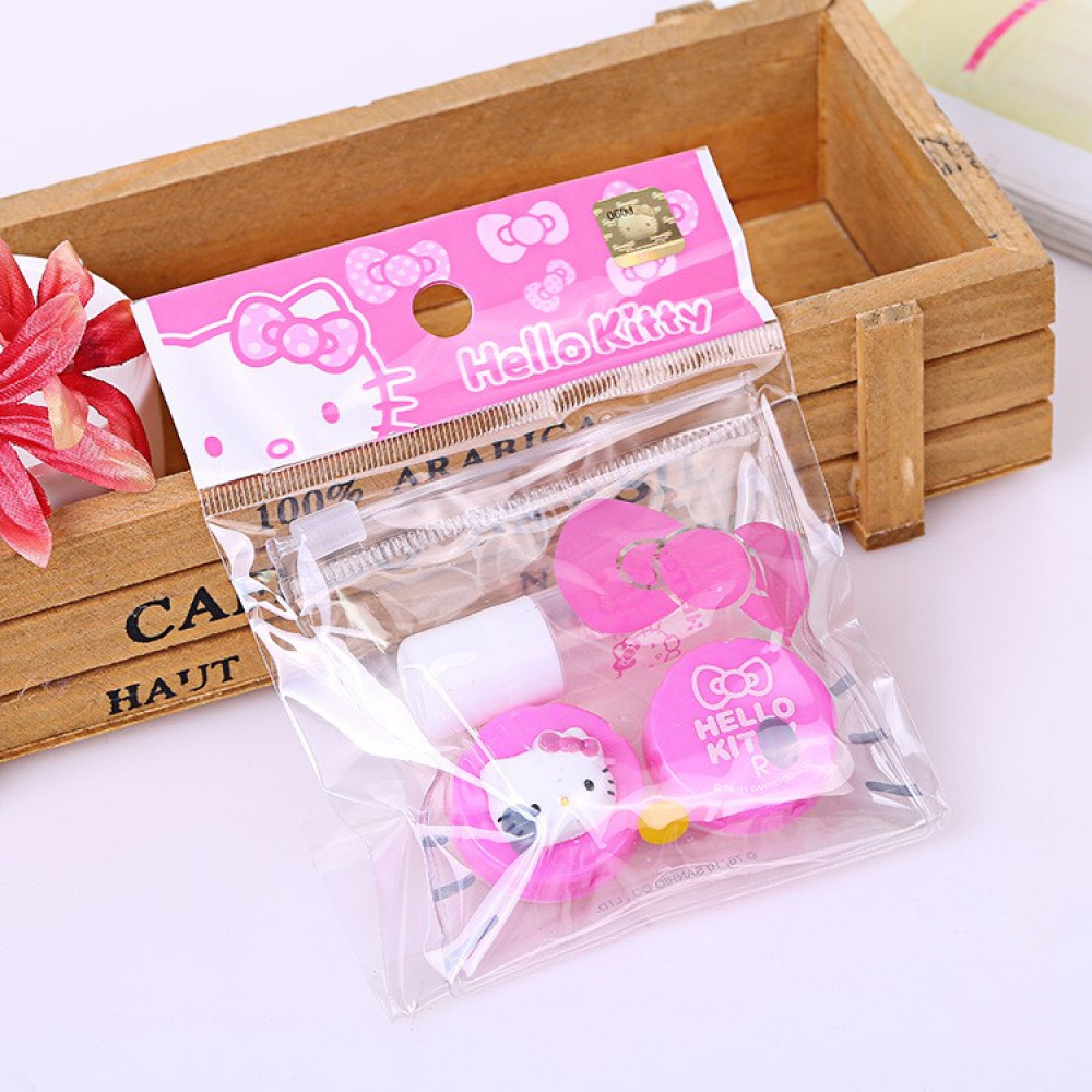 Hello Kitty Original Contact Lens Cases with Storage Bag