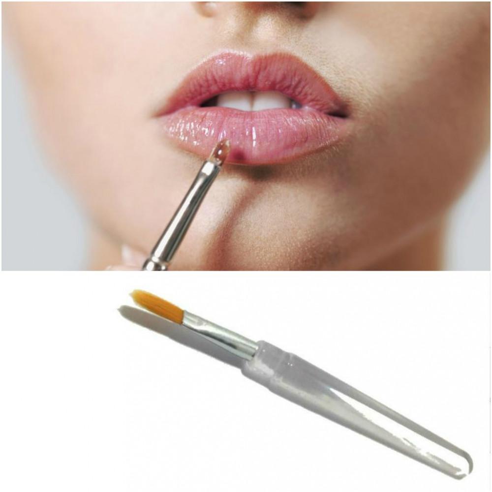 2pcs Lip Lipstick Lipgloss Brush Ready Stock
