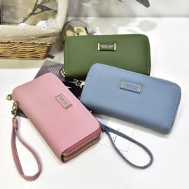 image of JR19 Double Zip Forever Young Lady Purse with Hand Hold Ready Stock