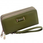 JR19 Double Zip Forever Young Lady Purse with Hand Hold Ready Stock