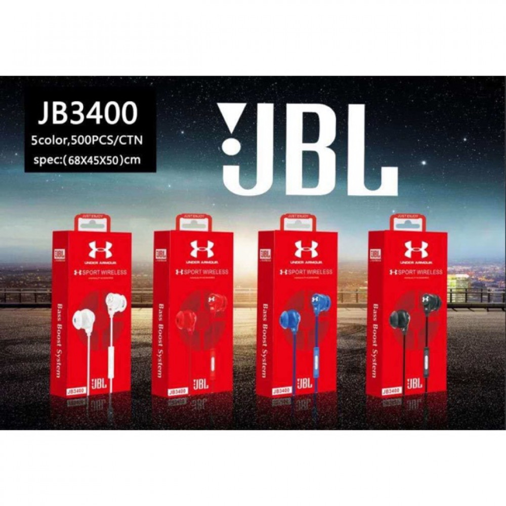 JBL 3400 In-Ear Earphones Headphones Ready Stock