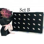 JR60 - 50pcs Baby Brooch Mix 6 Colors With Box Ready Stock 9 Rhinestones