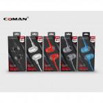 Genuine Coman Bass 3.5mm In-Ear Earphones Mic Ready Stock