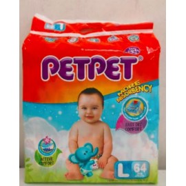 image of PETPET Mega diapers easy tape L64 ( 3 pack)4