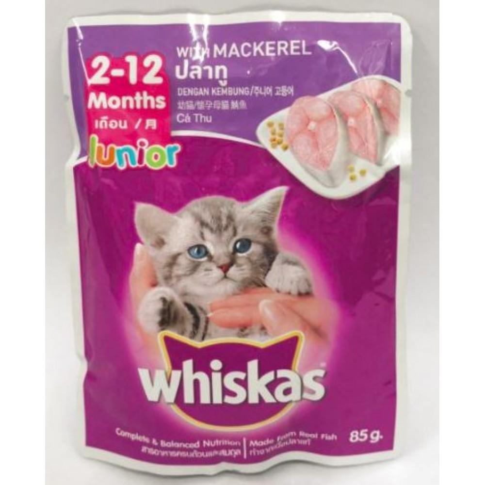 whiskas Junior 2-12 months MACKEREL (85g) x 24