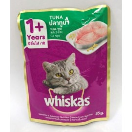 image of Whiskas Tuna Cat Food 85g Pouch x 24