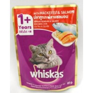 image of whiskas Mackerel & Salmon (85g) x 24