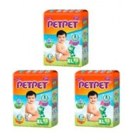 image of PetPet Mega Diapers Easy Tape S84 / M76 / L64 / XL52 (3 Packs)