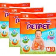 image of PetPet Mega Diapers Easy Tape S84 / M76 / L64 / XL52 (3 Packs)