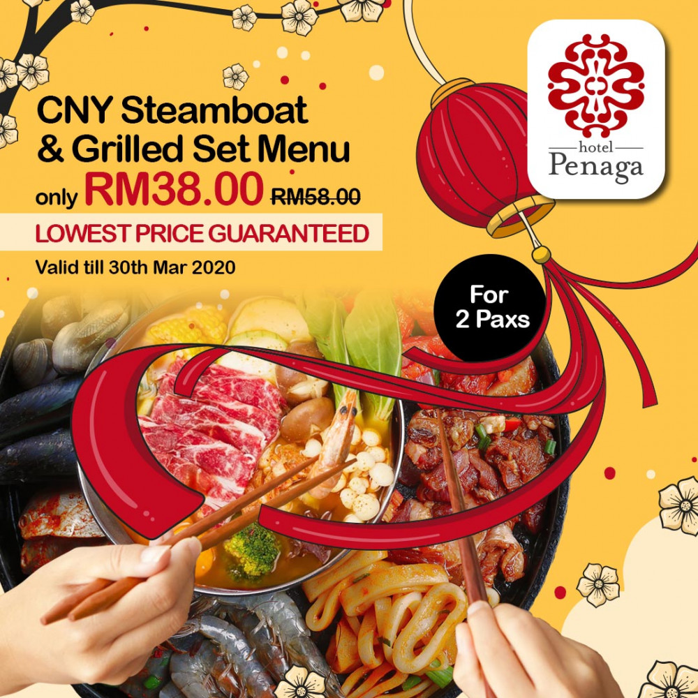 CNY Steamboat & Grilled Set Menu for 2 Paxs