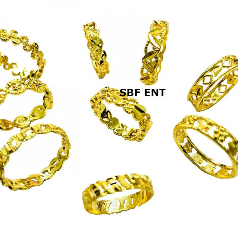 Wholesale Randomly Pick Quality Emas Korea Gold Plated Adult Fashion Rings