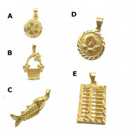 image of Ready Stock Quality Emas Korea Necklace Pendants