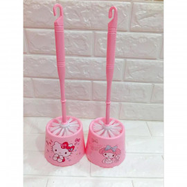 image of Hello Kitty & Melody Design Toilet Brush Removeable Ready Stock