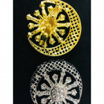 High Quality Batu Korea Brooch Pin Ring Tudung Scarf Ring Ready Stock Wholesale