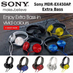 Sony MDR XB-450 Over Ear Headphones Best Sound Quality Ready Stock