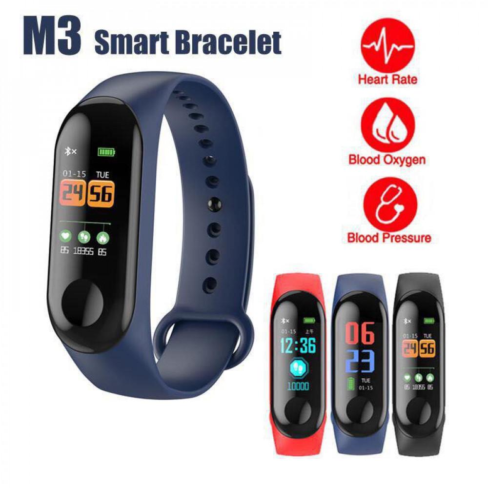 Smart Health Watch M3 Band Blood Pressure Monitor Waterproof Watch Ready Stock