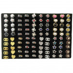 W82- 100pcs Wholesale Ready Stock Randomly Mix Baby Brooch with Box