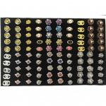 W82- 100pcs Wholesale Ready Stock Randomly Mix Baby Brooch with Box