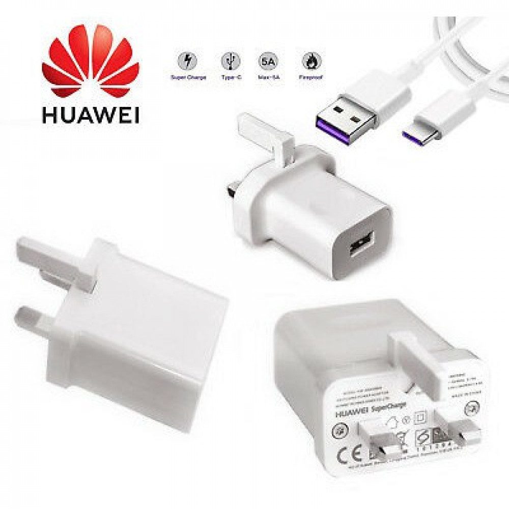 Huawei SuperCharge 4.5A/5A Adapter + Type C 3.0 Super Charging Cable (Free Post)