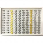W86-Plain 100pcs Baby Brooch Wholesale Price Ready Stock Tiada Batu Randomly Mix
