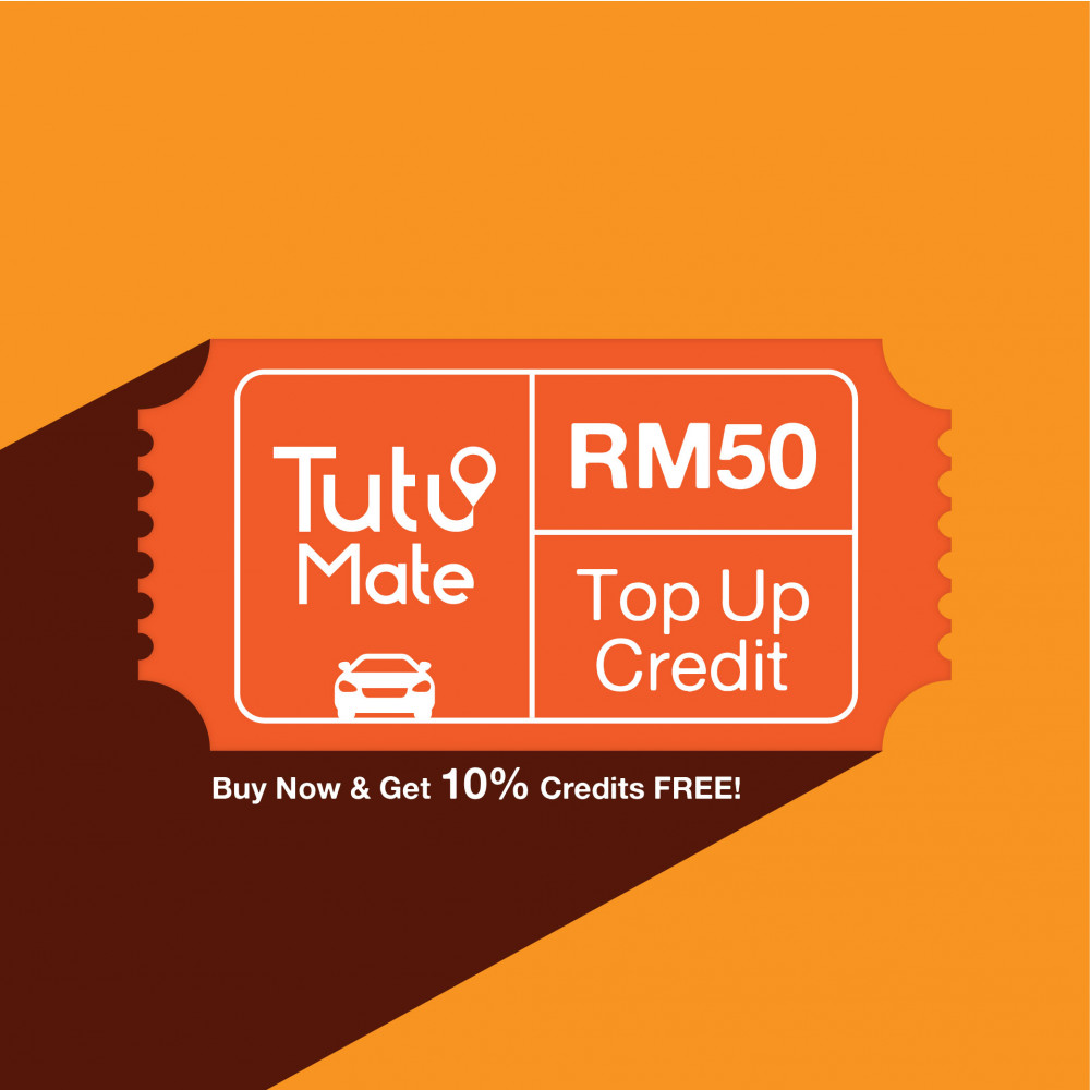 TutuMate Reload - Get RM55 Credits with RM50