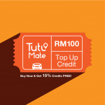 TutuMate Reload - Get RM115 Credits with RM100