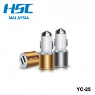 image of HSC YC-25 Dual USB Ports Safety Charger