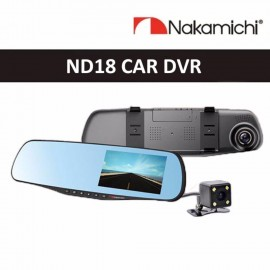 "image of Nakamichi ND18 4.3"" TFT Front and Rear DVR"