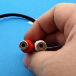 3.5mm Headphone Male Plug to 2 RCA Female AV Audio Stereo AUX Cable ((T12-10)