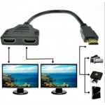 1080P HDMI 1 Male To Dual HDMI 2 Female Y Splitter Cable Adapter for HDTV LCD TV (P9-3)