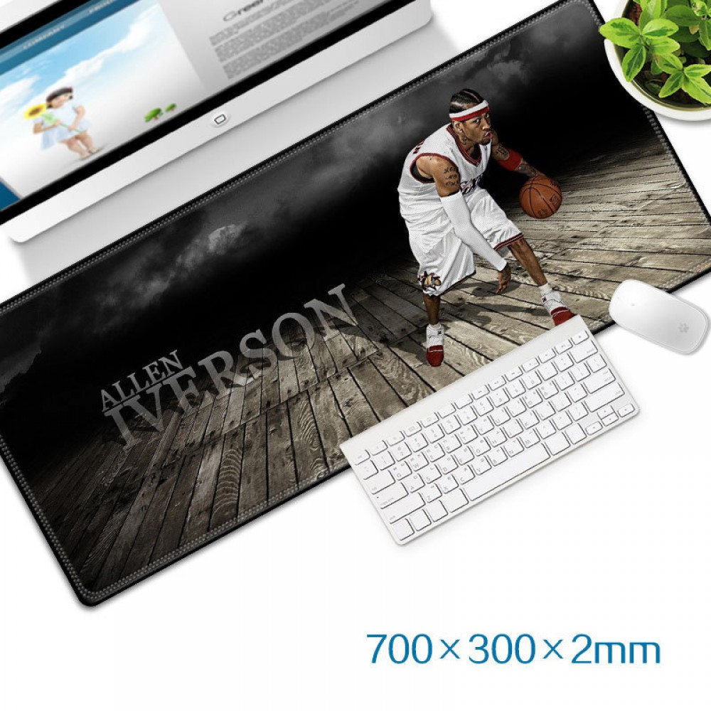 Allen Iverson Gaming Mat Non-slip Anti Fray Stitching Beautiful Mouse Pad