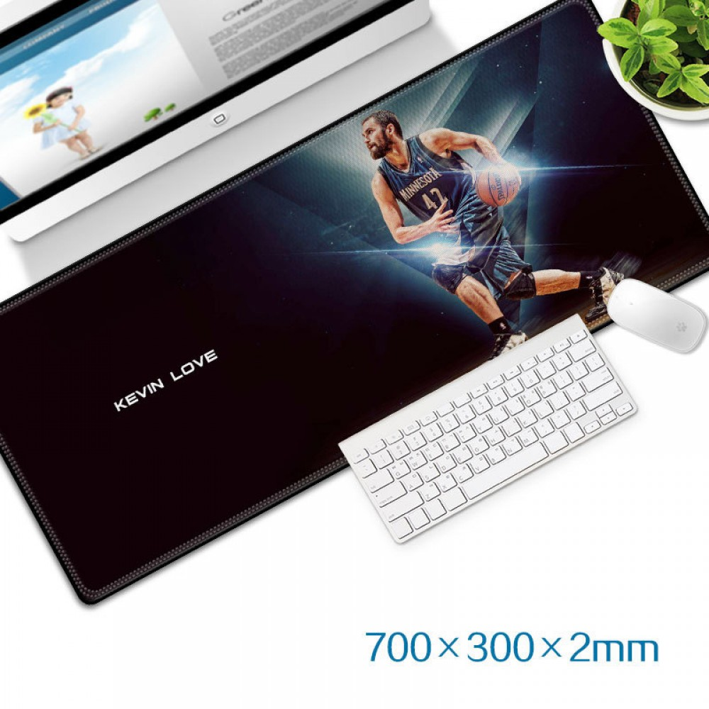 Kevin Love Gaming Mat Non-slip Anti Fray Stitching Beautiful Mouse Pad