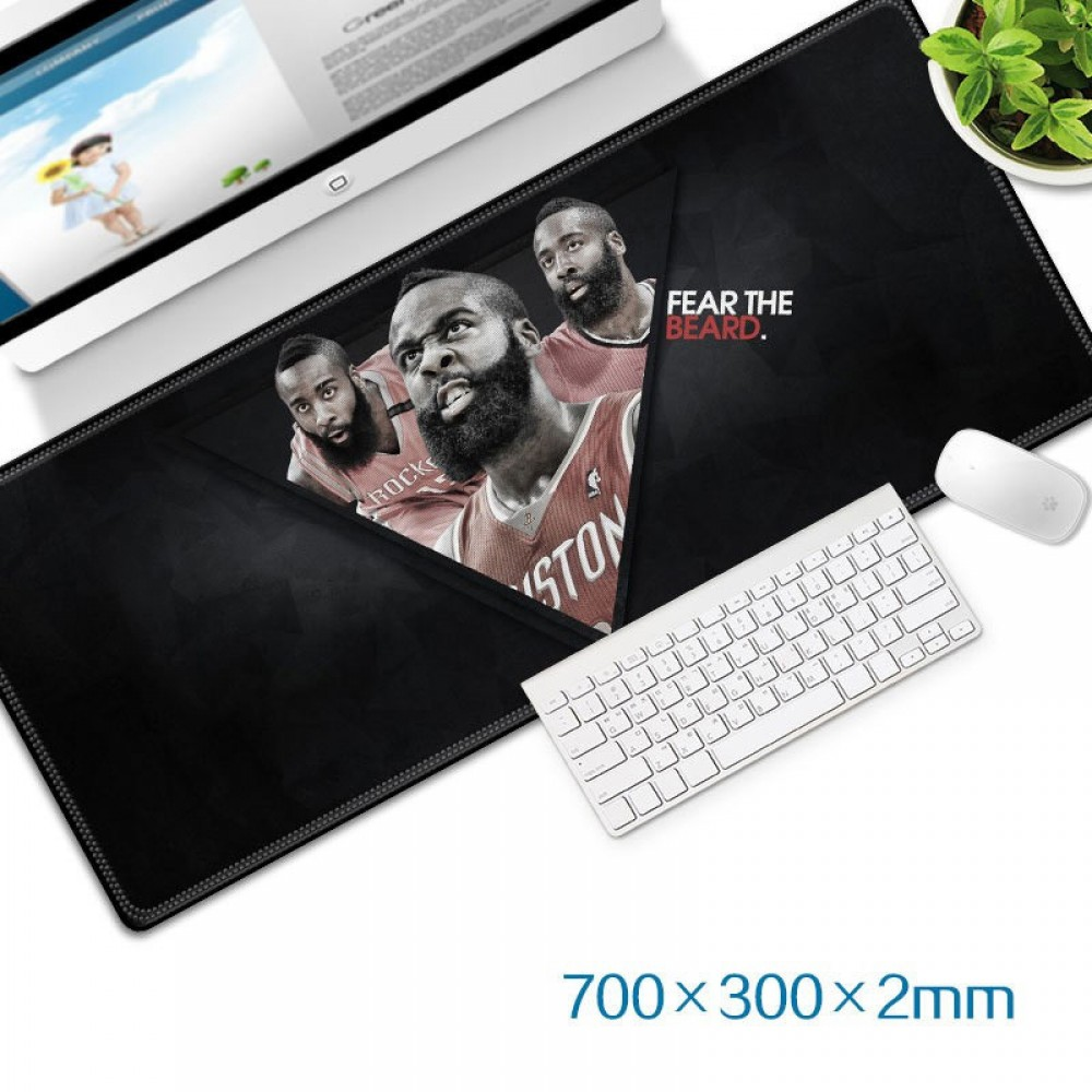 Fear The Beard Gaming Mat Non-slip Anti Fray Stitching Beautiful Mouse Pad