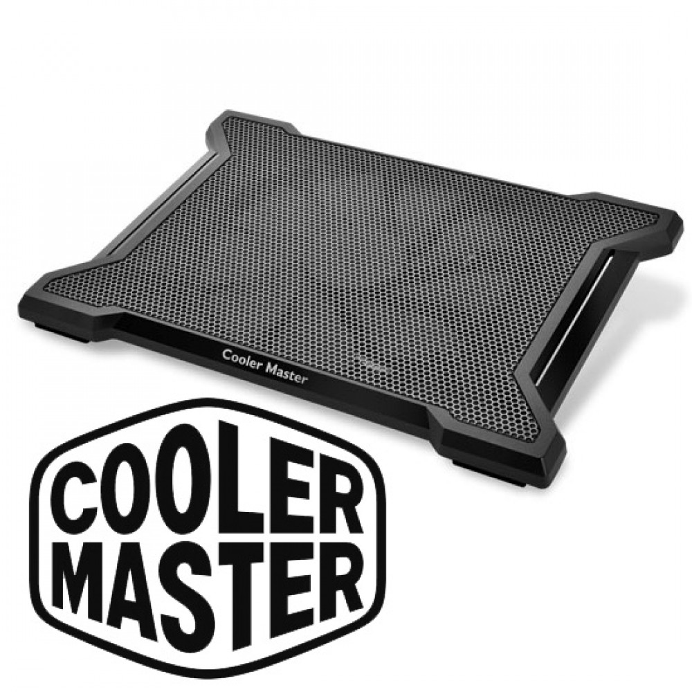 "Official Cooler Master NotePal X Slim II Cooling Pad Supports up to 15.6"" Laptop"