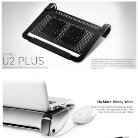 image of Official Cooler Master NOTEPAL U2 Plus Notebook Cooler
