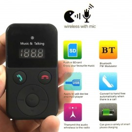 image of Car Kit FM Transmitter 302E Bluetooth Handsfree Modulator MP3 Player (P7-2)