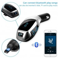 image of X5 Wireless Bluetooth Car MP3 FM Wireless Transmitter USB SD Card Slot