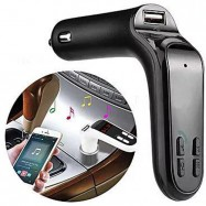 image of Car S7 Wireless Bluetooth Car MP3 FM Wireless Transmitter USB SD Card Slot