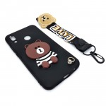 Huawei Nova 3E / P20 Lite Cute 3D Bear Tpu Soft Back Case