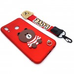 Huawei Nova 3E / P20 Lite Cute 3D Bear Tpu Soft Back Case
