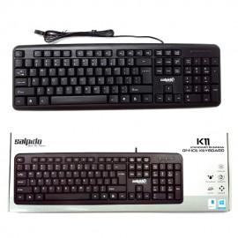 image of Official Salpido K11 Standard Business Office  Usb Keyboard (Black)