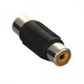 image of RCA Female to Female Plug Jack 1Pin AV Audio Video Extension Cable Connector (T11-10)
