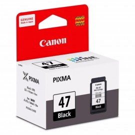 image of Official Canon PG-47 / 47 Black Ink Cartridge 15ML For E400/E410/E460/E470/E480