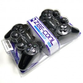 image of Official Zee-Cool Doubles Vibration Twin USB Games Controller For Laptop / PC