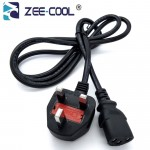 Official Zee-cool 1.5M Power Cord For Desktop PC LCD Monitor With Fuse